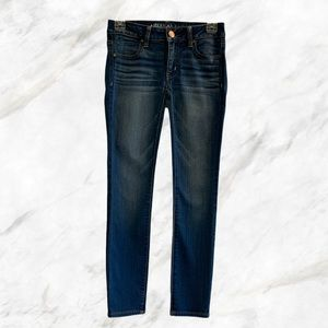 AEO | Super Stretch Ankle Cropped Blue Jeans